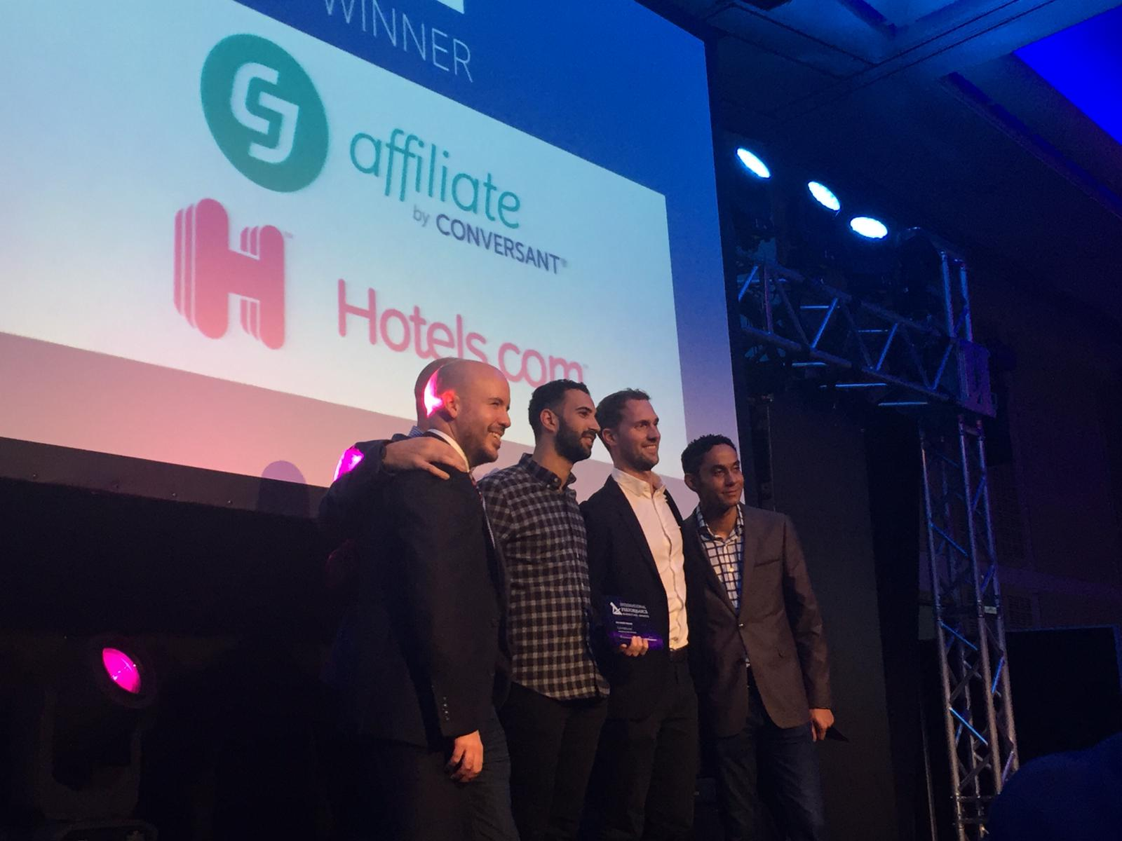 CJ Affiliate and Hotels.com win the IPMA for Best Performance Marketing Campaign or Strategy (USA)